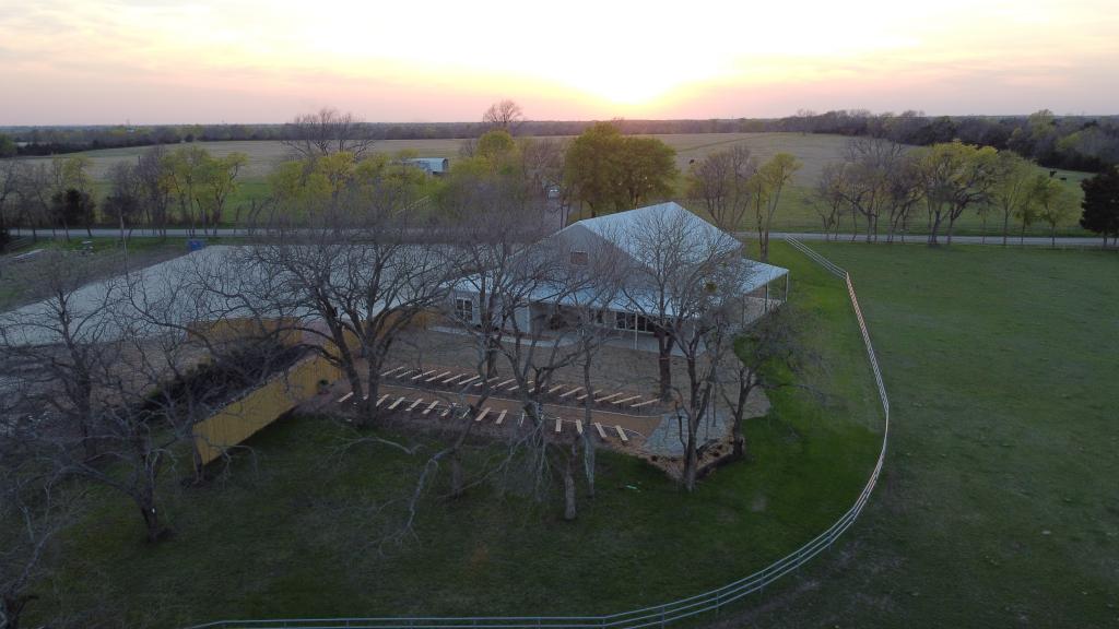 backyard of farmhouse wedding venue