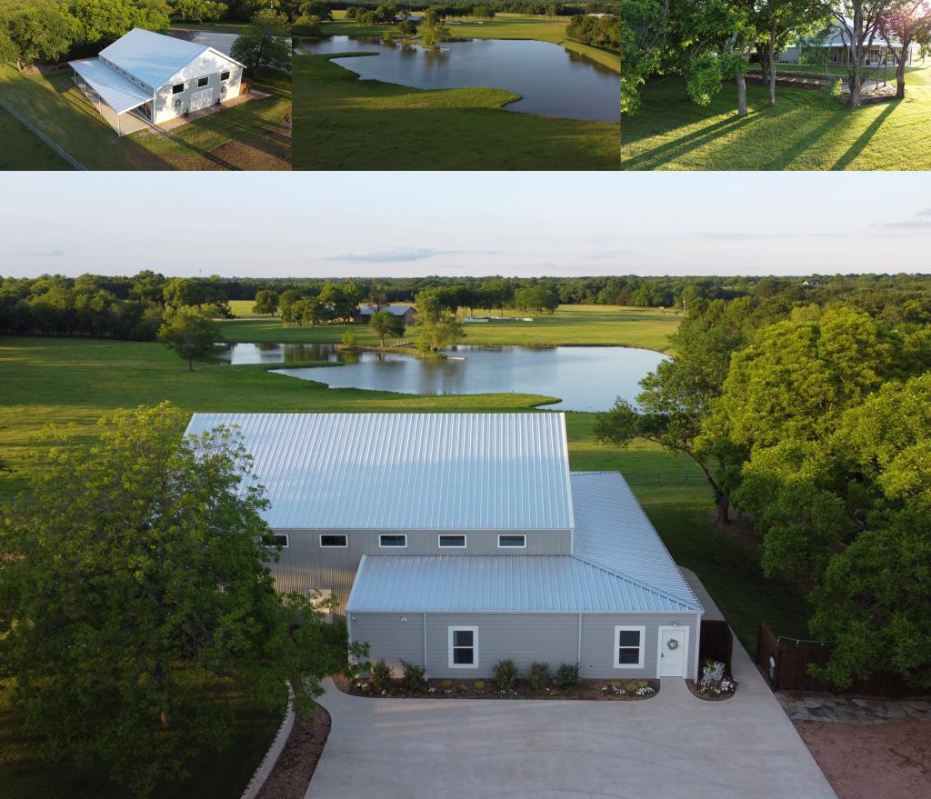 Farmhouse Wedding Venue overlooking Lake